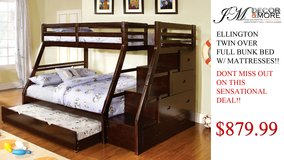 BUNK BED/ TRUNDLE AND MATTRESSES FREE DELIVERY in Huntington Beach, California