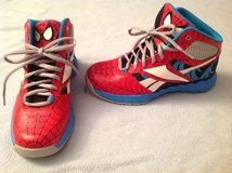 Cool Spider-Man gym shoes, Brand New, boys size 3, in Naperville, Illinois