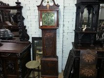 Carved Oak Grandfather Clock others available free delivery in Lakenheath, UK