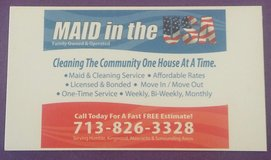 Maid cleaning service in Houston, Texas