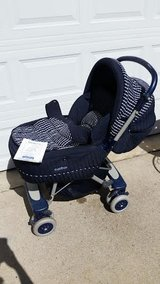 Navy / Peg-Perego Milano Grow With Me Stroller in Fort Campbell, Kentucky