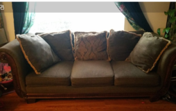 Extra Wide and deep Chocolate Vintage style Sofa in Fort Lewis, Washington