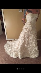 Off white, strapless wedding dress in Dover AFB, Delaware