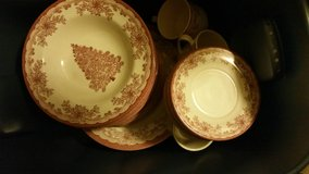 Christmas dishes in Belleville, Illinois
