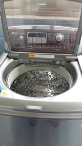 LG stainless Washer @ Dryer in Camp Humphreys, South Korea
