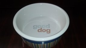 Signature Strip Good Dog Ceramic Bowl - Large in Kingwood, Texas