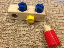 Wooden screwdriver toy in Houston, Texas