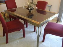 Glass & Steel Dining Room Table in Oswego, Illinois