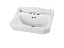 NEW. Foremost 7 in. Pedestal Sink Basin in White in Alamogordo, New Mexico