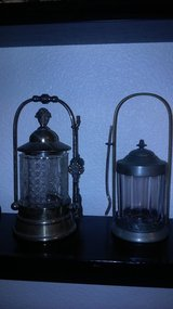 1 Antique pickle jars with holder and dainty forks I sold the larger one in Fairfield, California