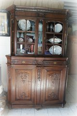 unique Liege baroque glas display cabinet in Hohenfels, Germany