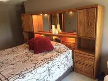 Mirrored headboard and matching piers in Lockport, Illinois