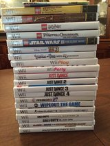 Wii console, games & 3 controllers in Conroe, Texas