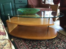 Glass and Wood Coffee Table in Bartlett, Illinois