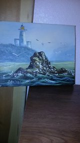 8 x 10 seascape signed oil painting in Sacramento, California