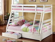 TWIN OVER FULL BUNK BED W STORAGE FREE DELIVERY in Huntington Beach, California