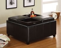 STORAGE OTTOMAN WITH FOOD TRAYS FREE DELIVERY in Huntington Beach, California