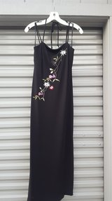 Dress for ladies, Black with Flowers, size Small in Vacaville, California