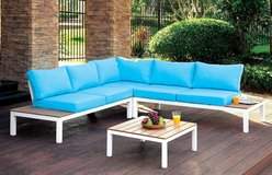 BLUE PATIO SECTIONAL FREE DELIVERY in Huntington Beach, California