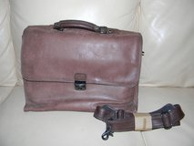 Heritage Leather Locking Briefcase, Travel Portfolio, Laptop or Cross Body Shoulder Bag in Elgin, Illinois