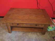 Heavy solid wood coffee table $50 in Fort Leonard Wood, Missouri