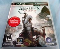 Play Station 3 PS3 Assassin's Creed III (Manual, box and game) in Fort Leonard Wood, Missouri
