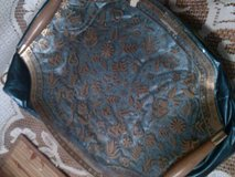 Glass Tray with Gold Decor! in Alamogordo, New Mexico