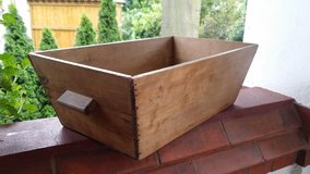 Wooden antique box container in Ramstein, Germany
