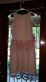 Pink feather dress (size small) in Conroe, Texas