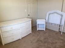Wicker bedroom set in Oceanside, California