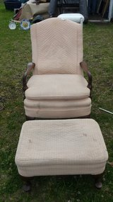 Chair with Ottoman in Cherry Point, North Carolina
