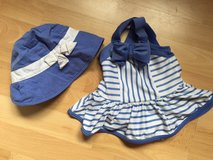 Gymboree Bathing Suit and Hat - 6 - 12 Months in Riverside, California