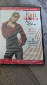 KNIT FASHIONS IN MOTION DVD with 6 Patterns NEW in Shorewood, Illinois