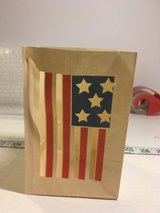 One Dozen Luminaries 4th Of July American Flag in Fort Riley, Kansas