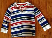 Baby/Toddler boys Crazy 8 long sleeve striped shirt (red, white, blue and green) size 3T in Warner Robins, Georgia