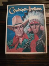 Vintage cowboys and indians to color picture in Cleveland, Texas