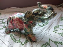 Vintage Floral Print Elephant Statue in Vacaville, California