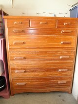 Brandt Ranch Oak Dresser and one matching Twin Headboard, Footboard with slats in Chicago, Illinois
