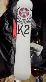 K2 Snowboards with bindings,bag,DC shoes in Macon, Georgia