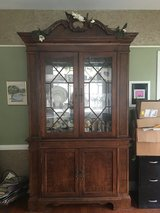 Cherry Lighted Dining Cabinet w cabinets (2 hidden drawers and shelves) in Beaufort, South Carolina