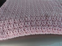BABY BLANKET    CROCHET  PINK in Cherry Point, North Carolina