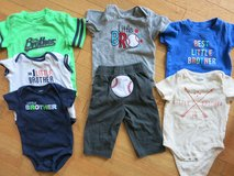 Lot of Little Brother Onsies Clothes, Sizes 6-24 months in Sandwich, Illinois