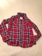 Girls Size 12 justice flannel shirt some sparkle too! in Plainfield, Illinois