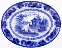 Royal Doulton Blue & White China Platter in Camp Lejeune, North Carolina