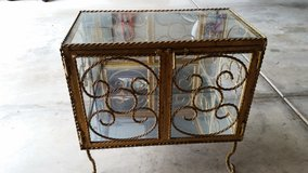 Custom made iron/glass display cabinet in Lockport, Illinois