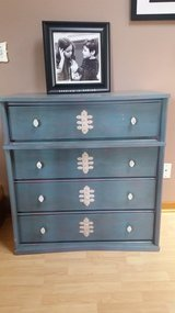 Vintage refinished dresser reduced price in Aurora, Illinois