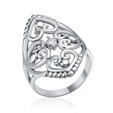 ***BRAND NEW***Elegant Silver Cz Filigree Hearts Stainless Steel Ring***SZ 7 in Houston, Texas