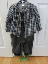Gymboree 3 piece toddler boys outfit, size 3t in Sandwich, Illinois