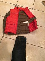 New with tags 3 pc Boys Calvin Klein suit size 7 in Wheaton, Illinois