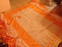 bed cover orange/white with two pillows - tagesdecke in Ramstein, Germany
